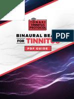 Binaural Beats for TINNITUS PDF Guide