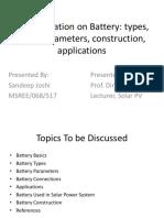 Battery Presentation