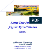 Akashic Knowing School of Wisdom Course 1 Manual for Tele Course