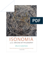 Kojin Karatani - Isonomia and the origins of philosophy
