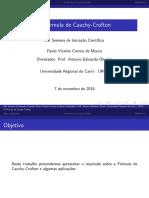 Beemer Semana de IC Fórmula de Cauchy-Crofton