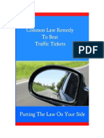 Traffic Tickets Common Law Remedy
