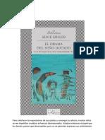 Alice Miller - El Drama Del Niño Dotado