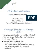ELT Methods Dendrinos Testing