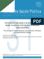 Texto 1 - Conceitos de Educacao e de Promocao Em Saude - Mudancas Individuais e Mudancas Organizacionais