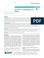 Application of the ICD-11 classification of personality disorders