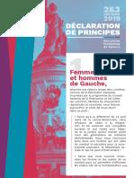 Declaration de Principes