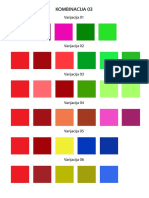 Combination of Colors for Painters and Designers