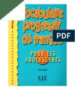 Vocabulaire Progressif- Ado