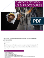 Lte Radio Access Network Protocols and Procedures