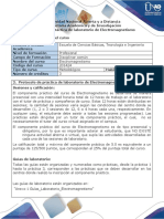 Protocolo de Práctica de Laboratorio de Electromagnetismo
