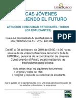 Cartel Informativo Becas Jóvenes Escribiendo El Futuro
