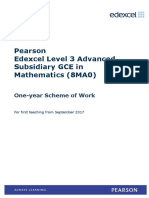As Level Maths 1 Year SoW