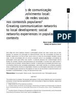 Artigo Tecendo Redes de Comunicao Para o DL - Tauk Santos