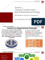 Session 5- Objective - Understanding Organizational Change and Transformation