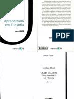 HARDT, Michael Gilles Deleuze Um Aprendizado Em Filosofia
