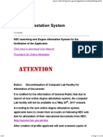 Degree Attestation System