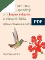 Estrategias Para El Uso y Desarrollo de Las Lenguas Indigenas-tania Santos