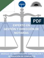 Modulo 7. Negociación, Conciliación y Resolución de Conflictos