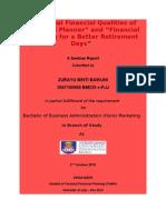 p.finance Seminar Report1