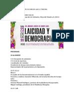 XIV Jornada Laicista de Europa Laica Córdoba