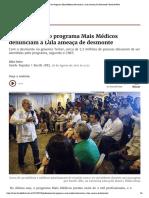 Profissionais Do Programa Mais Médicos Denunciam a Lula Ameaça De Desmonte _ Brasil de Fato