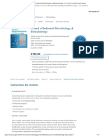 Guide for Authors - Journal of Industrial Microbiology & Biotechnology
