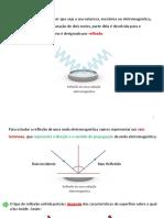Reflexão da luz - Ficha de Informação FQ 11º ano
