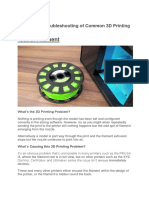 3D Printing Troubleshooting 34 Problems