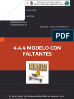 4.4.4 Modelo Con Faltante. Adm de Op.1