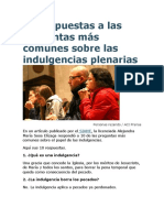 10 Respuestas a Las Preguntas Más Comunes Sobre Las Indulgencias Plenarias