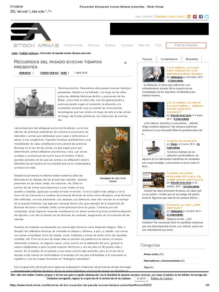 39ebe75bf3c7 Recuerdos del pasado evocan tiempos presentes - Stock Armas.pdf