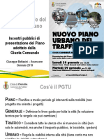 Presentazione PGTU Incontri Pubblici