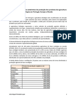 Produção dos produtos de agricultura biológica em Portugal, Europa e Mundo