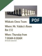 chess club flyer