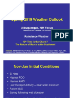 Spring 2019 Outlook