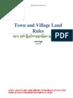 Myanmar Town& Village Land Rule
