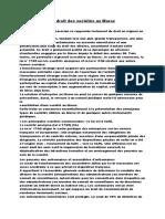 Le Droit Des Sociétés Au Maroc