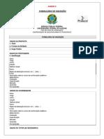 ANEXO III - Formulário de Inscrição