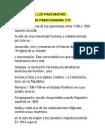 Historia de Los Pasionistas