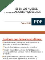 LESIONES EN LOS HUESOS, ARTICULACIONES Y MÚSCULOS OK  OCTUBRE 15.ppt