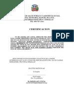 Certificacion de Trabajo Candida Acosta
