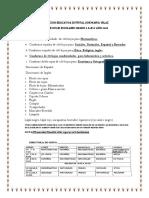 Lista de Utiles Escolares Grado. 5 2019
