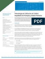 Moody's Metodología de calificación de créditos respaldados de municipios y estados mexicanos