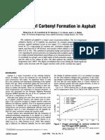 the kinetics of carbonyl formation in asphalt.pdf