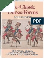 Pre-classic Dance Forms