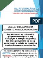 Ligal at Lumalawak Na Konsepto Ng Pagkamamamayan