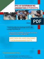 Konsepto at Katuturan Ng Pagkamamamayan (Citizenship)