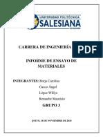 Informe Ensayo de Materiales