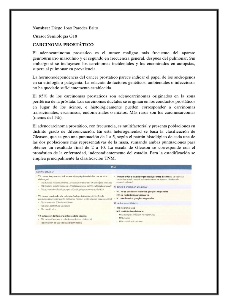 adenocarcinoma prostatico t3a